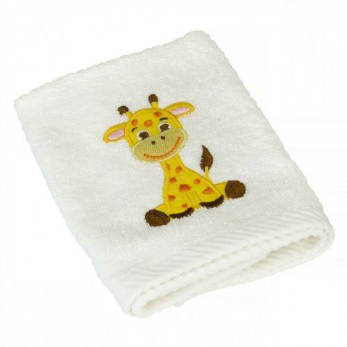 Giraffe Embroidered 100% Cotton Face Flannels - 2 Pack